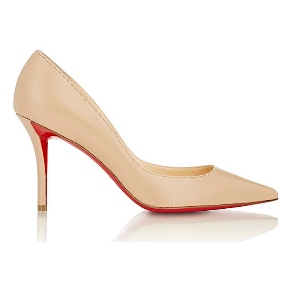 CHRISTIAN LOUBOUTIN Apostrophy pumps-nude - Christian Louboutin beige smooth kidskin Apostrophy pumps...