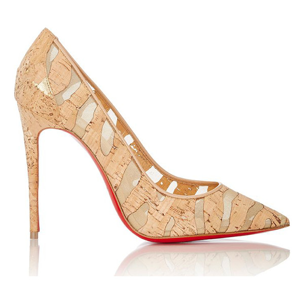 CHRISTIAN LOUBOUTIN Pigalle follies pumps-nude - Christian Louboutin Noisette (hazelnut) tiger-striped cork...