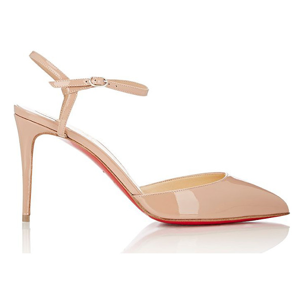CHRISTIAN LOUBOUTIN Rivierina ankle-strap pumps-nude - Christian Louboutin beige patent leather Rivierina...