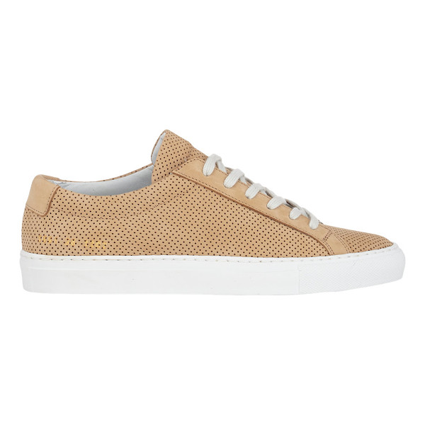 COMMON PROJECTS Perforated original achilles sneakers-tan - Common Projects tan perforated nubuck low-top Original...