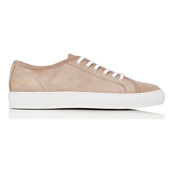 COMMON PROJECTS Tournament low-top sneakers-tan - Common Projects beige suede Tournament low-top sneakers....