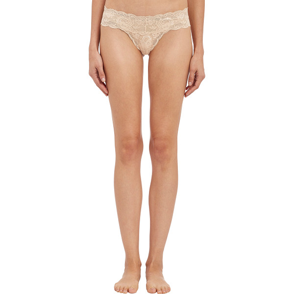 COSABELLA Never say never™ cutie™ lowrider thong-beige, pink - Cosabella rose beige stretch floral lace Never Say...