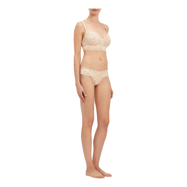 """COSABELLA """"sweetie"""" soft bra-light pink, pink - Cosabella blush floral lace Never Say Never™..."""