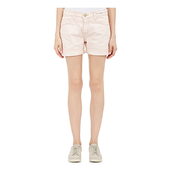 CURRENT/ELLIOTT The slouchy cut-off shorts-pink - Current/Elliott blush stretch-cotton The Slouchy Cut-Off...