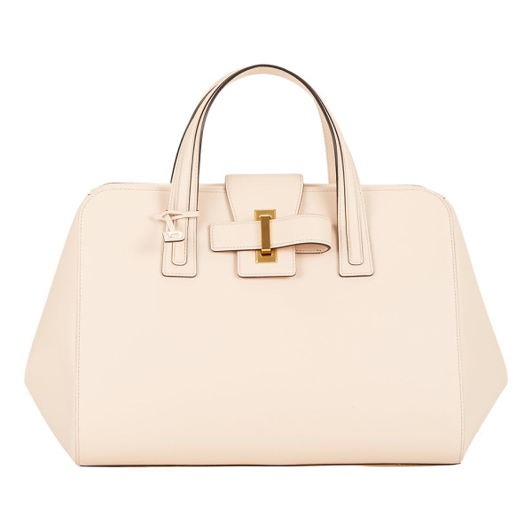 DELVAUX Delvaux simplissime boston cadence satchel-peach, beige, nude - Exclusively Ours! Delvaux pale peach smooth leather...