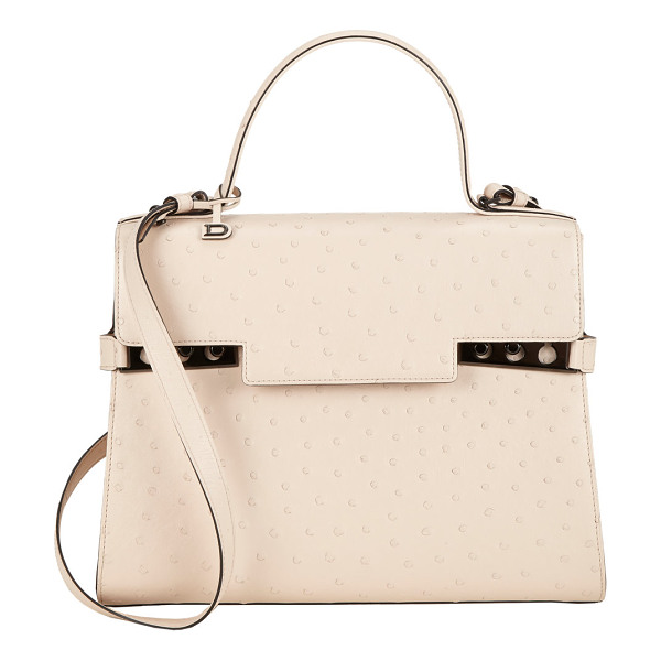 DELVAUX Tempete gm autruche-nude - Exclusively Ours! Delvaux nude ostrich-skin Tempete GM...