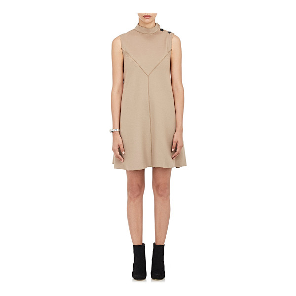 DEREK LAM Brushed melton flared dress-colorless - Derek Lam camel brushed wool-cashmere melton sleeveless...