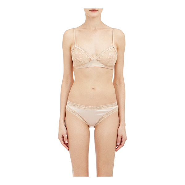 ERES Bethsabee soft bra-nude - Eres beige dentelle lace and satin Bethsabee soft bra...