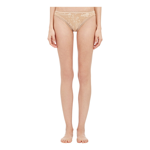 ERES Dari salome thong-nude - Eres dusty pale peach satin and geometric lace Dari Salome...