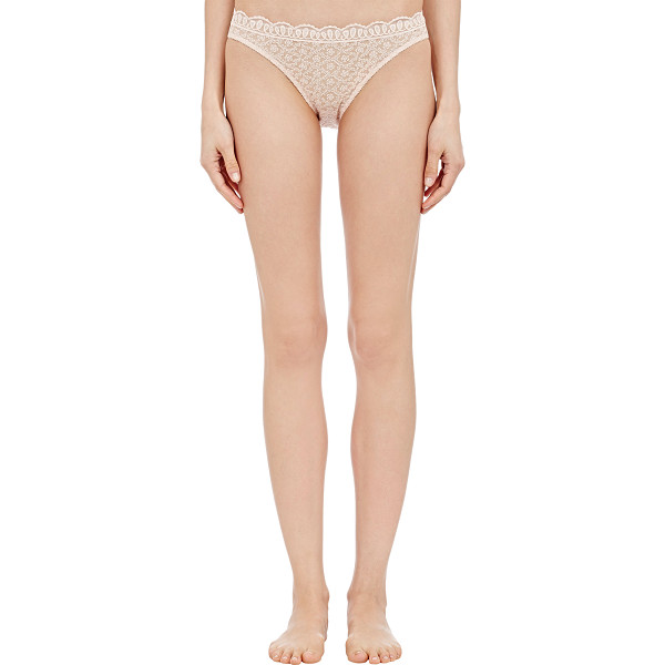 ERES Plenitude briefs-pink - Eres' Plenitude briefs are crafted at front of blush mesh...