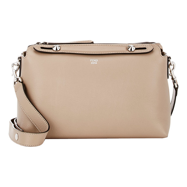FENDI By the way bauletto small shoulder bag-colorless - Fendi Dove (beige) grained leather By the Way Bauletto...