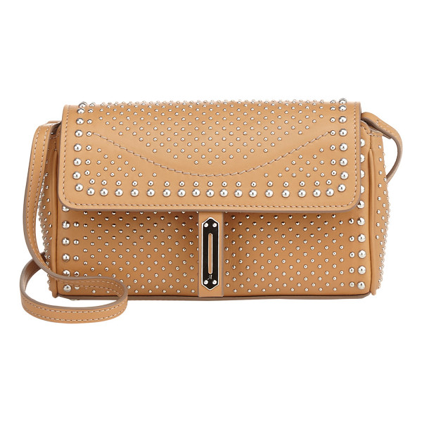 FONTANA MILANO 1915 studded pochette clutch-nude - Exclusively Ours! Crafted of tan smooth calfskin, Fontana...