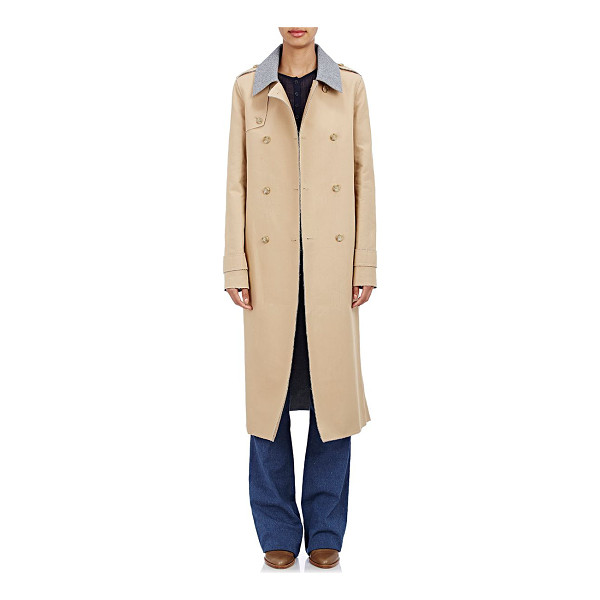 GABRIELA HEARST Reversible double-breasted trench coat-tan - Gabriela Hearst camel bonded cotton double-breasted trench...