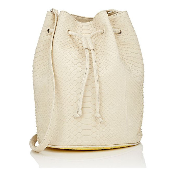 "GELAREH MIZRAHI ""friends in all places"" python bucket bag-pink - Crafted of ivory python, Gelareh Mizrahi's ""Friends In All..."
