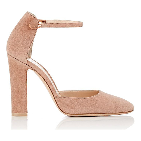 """GIANVITO ROSSI """"54"""" suede mary jane pumps-pink - Gianvito Rossi rose blush suede """"54"""" Mary Jane pumps...."""