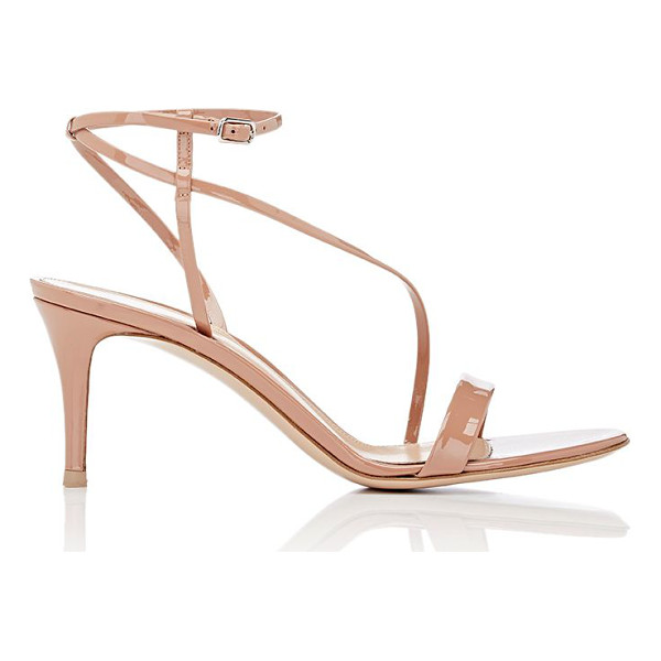 GIANVITO ROSSI Ankle strap sandals-pink - Gianvito Rossi Praline (tan) patent leather sandals styled...