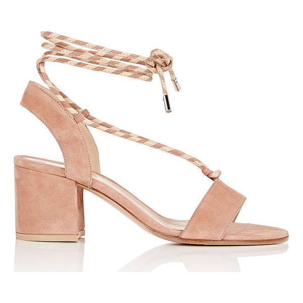 GIANVITO ROSSI Gianvito rossi ankle-tie suede sandals-pink - Exclusively Ours! Gianvito Rossi's rose blush suede sandals...