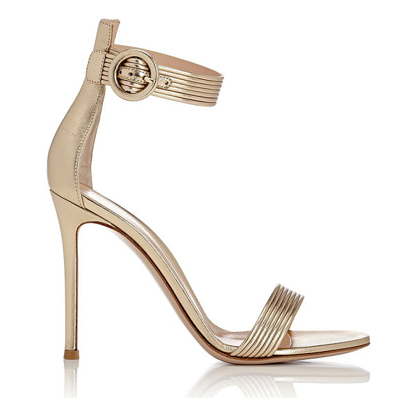 GIANVITO ROSSI Baiadera ankle-strap sandals-gold - Crafted of metallic Mekong (gold) nappa leather, Gianvito...
