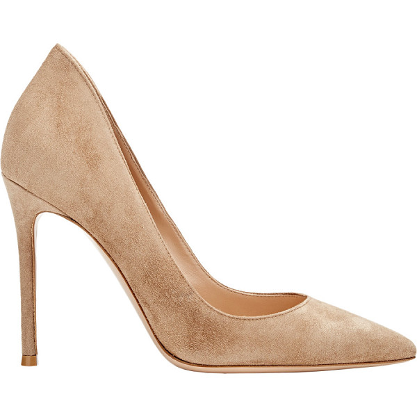 GIANVITO ROSSI Ellipsis pumps-beige - Gianvito Rossi Bisque suede Ellipsis pumps styled with a...