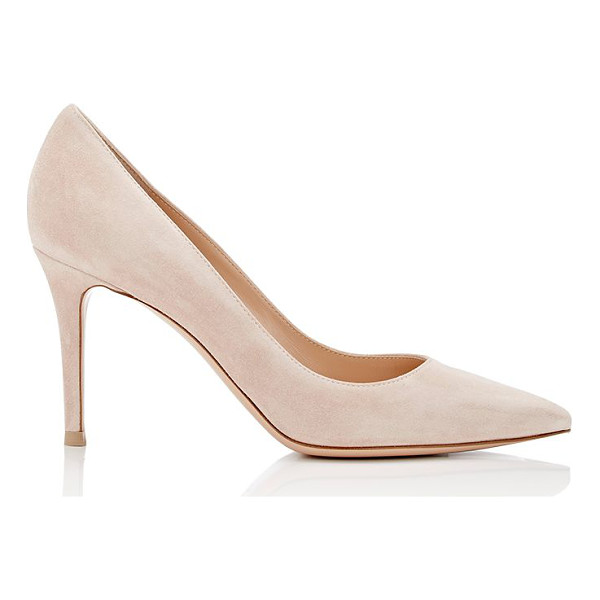 GIANVITO ROSSI Gianvito suede pumps-light pink - Gianvito Rossi's light pink suede Gianvito pumps feature a...
