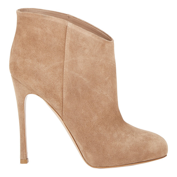 GIANVITO ROSSI Hidden-platform ankle boots-nude - Crafted of soft Bisque suede, Gianvito Rossi's pull-on...