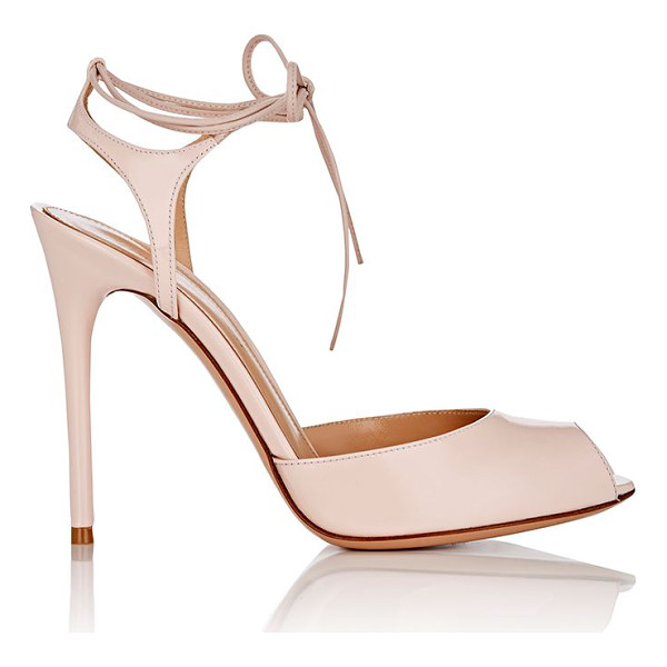 GIANVITO ROSSI Muse patent leather ankle-tie sandals-light pink - Crafted of light pink patent leather, Gianvito Rossi's Muse...