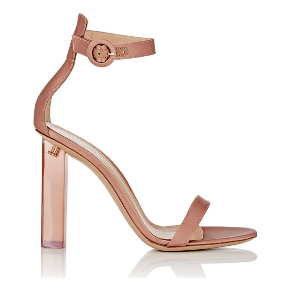 GIANVITO ROSSI Portofino ankle-strap sandals-colorless - Exclusively Ours! Gianvito Rossi's blush satin Portofino...