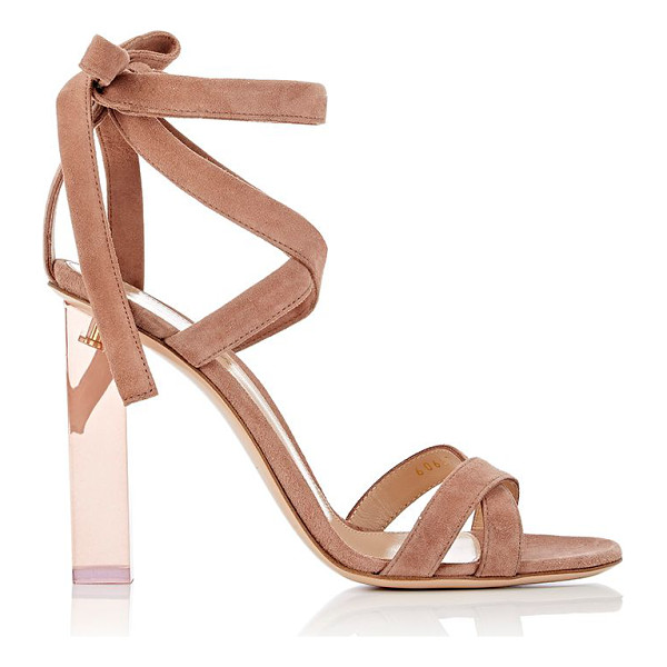 GIANVITO ROSSI Suede ankle-tie sandals-pink - Exclusively Ours! Crafted of rose blush suede, Gianvito...