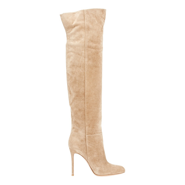 GIANVITO ROSSI Suede over-the-knee boots-tan - Crafted of Bisque (beige) suede, Gianvito Rossi's...