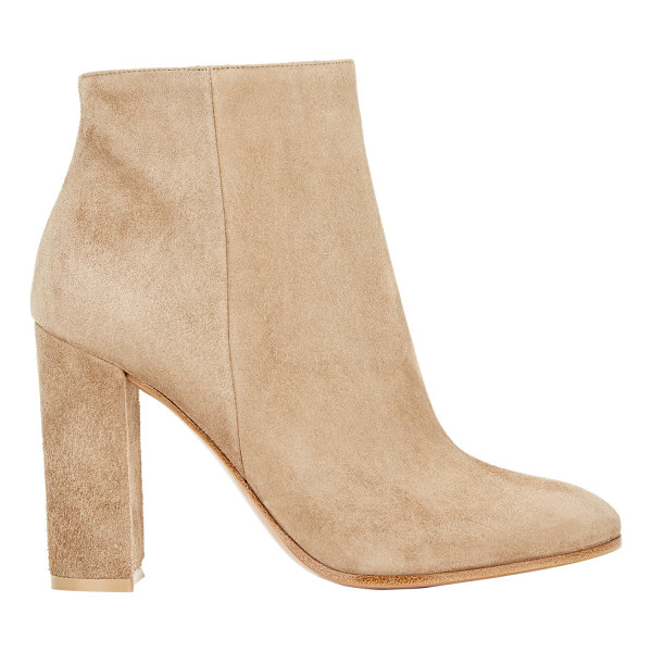 GIANVITO ROSSI Gianvito rossi suede side-zip ankle boots-tan - Gianvito Rossi Bisque (beige) side-zip ankle boots styled...
