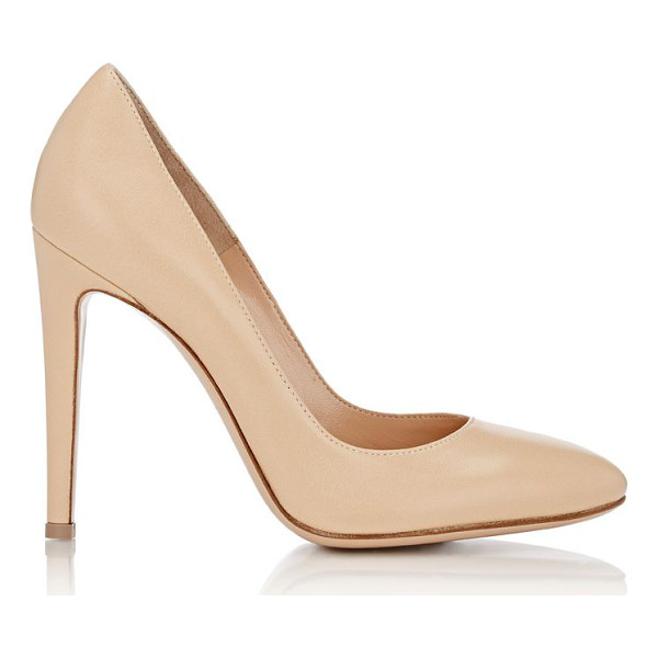 GIANVITO ROSSI Roma round-toe pumps-nude - Exclusively Ours! Gianvito Rossi beige nappa leather Roma...