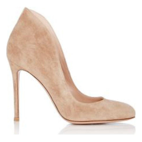 GIANVITO ROSSI Suede high-back pumps-nude - Crafted of Bisque (beige) suede, Gianvito Rossi's...