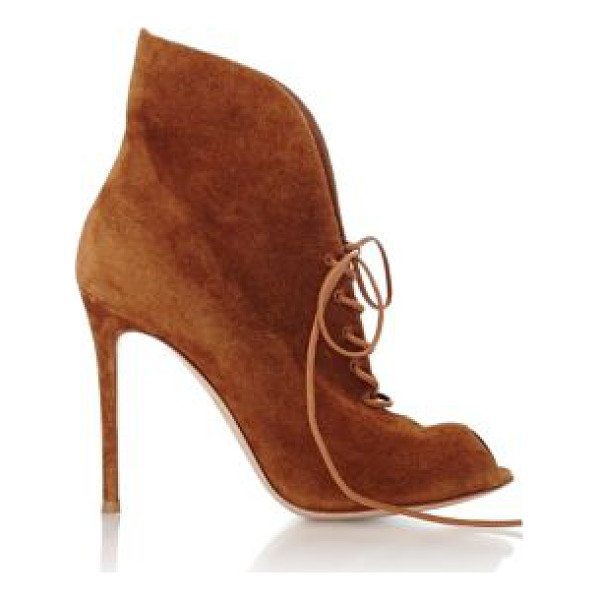 GIANVITO ROSSI Suede jane ankle booties-brown - Designed with a leg-elongating silhouette, Gianvito Rossi's...