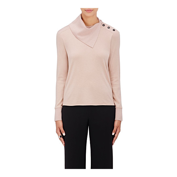 GIORGIO ARMANI Cashmere turtleneck sweater-pink - Armani's blush cashmere jersey sweater is styled with an...