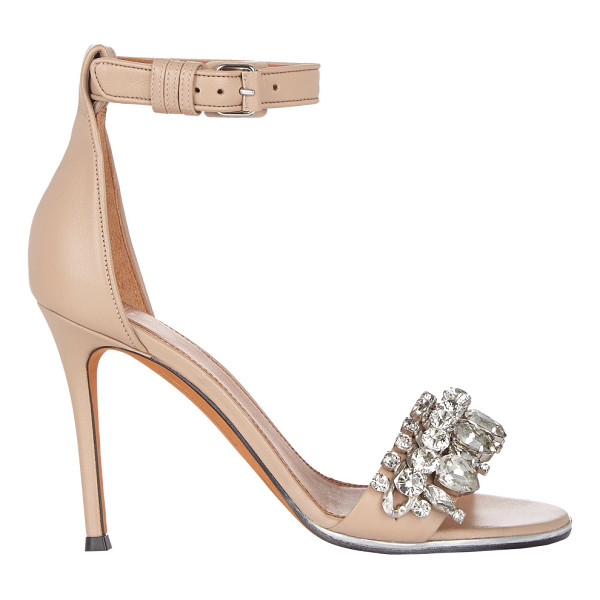 GIVENCHY Embellished ankle-strap sandals-nude - Givenchy tan nappa leather ankle-strap sandals embellished...