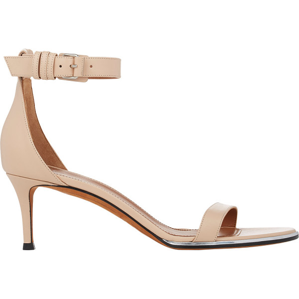 GIVENCHY Nadia ankle-strap sandals-nude - Givenchy beige smooth calfskin ankle-strap sandals detailed...