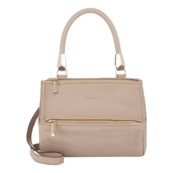GIVENCHY Pandora metal animation messenger bag-nude - Givenchy Linen (taupe) waxy grained leather medium Pandora...