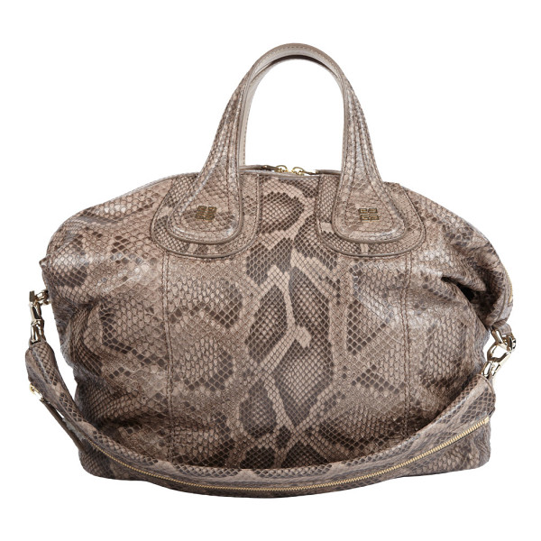 GIVENCHY Python medium nightingale satchel-nude - Givenchy taupe python medium Nightingale satchel. Debossed...