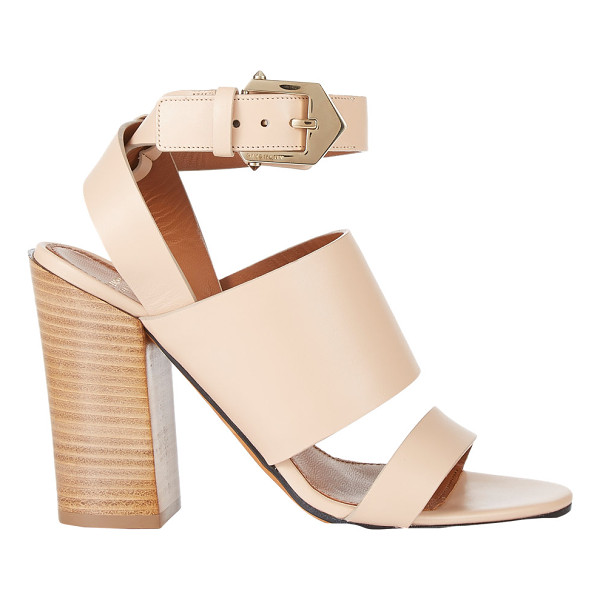 GIVENCHY Double-band sara sandals-nude - Crafted of smooth beige calfskin, Givenchy's block-heel...