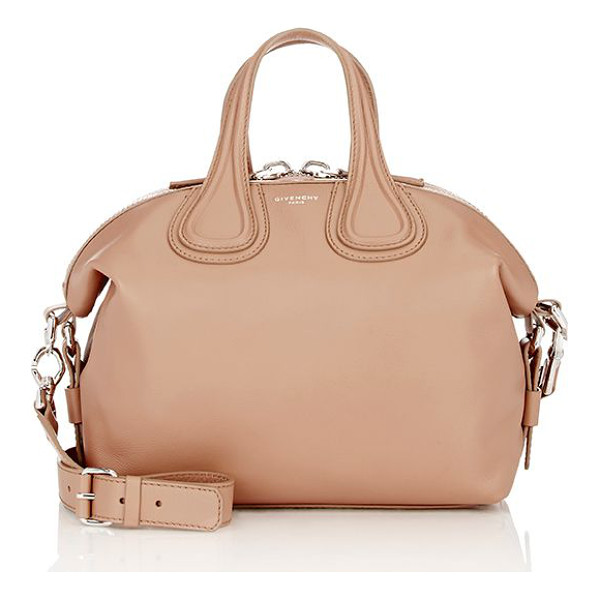 GIVENCHY Nightingale small satchel-colorless - Givenchy Old Pink (blush) waxy grained leather Nightingale...