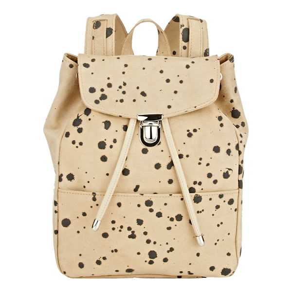 ILLESTEVA Charlie mini backpack-nude - Illesteva beige and black splatter-print suede Charlie mini...