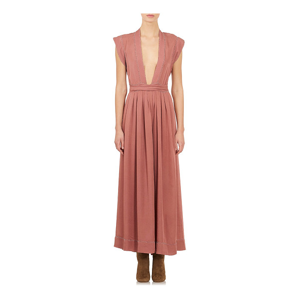 ISABEL MARANT Beaded georgette perlee gown-pink - Crafted of Rosewood silk georgette, Isabel Marant's...