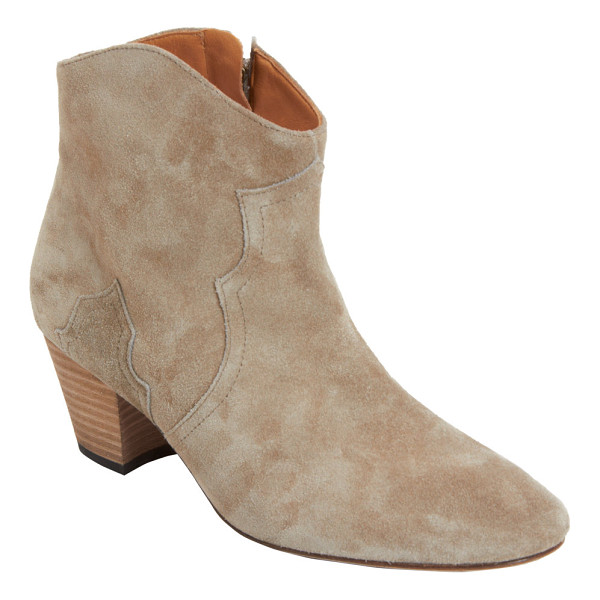 ISABEL MARANT Dicker ankle boots-nude - Isabel Marant Taupe suede calfskin Western-style Dicker...