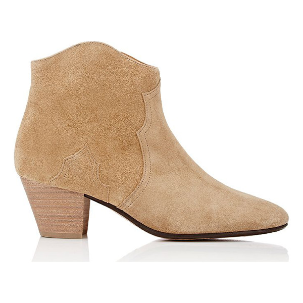 ETOILE ISABEL MARANT Dicker suede ankle boots-beige, tan - Isabel Marant Étoile's western-inspired Dicker ankle boots...