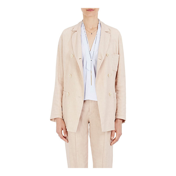 ISABEL MARANT Nessa linen-blend double-breasted blazer-light pink - Isabel Marant's Nessa double-breasted blazer is crafted of...