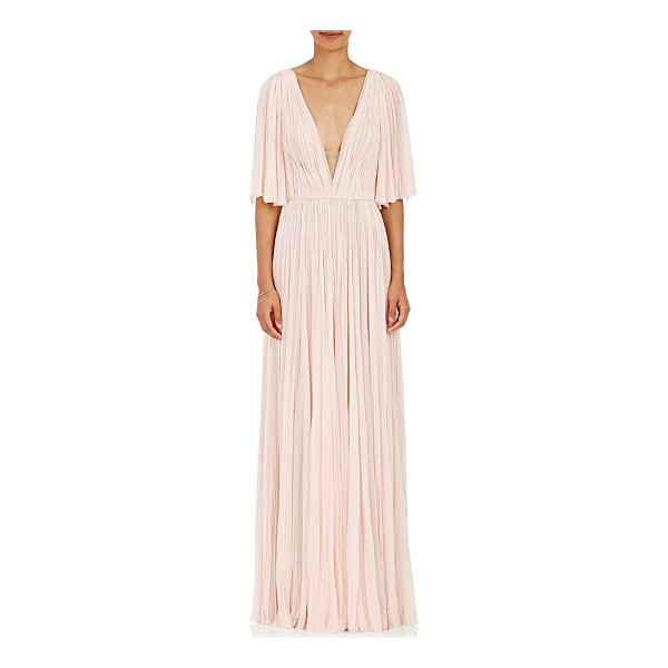 J. MENDEL Chiffon gown-pink - Cut with a plunging neckline and elbow-length flutter...