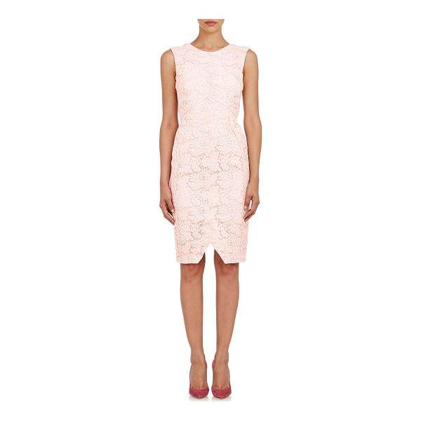 J. MENDEL Lace sheath dress-pink - Exclusively Ours! Crafted of pale pink lace, J. Mendel's...
