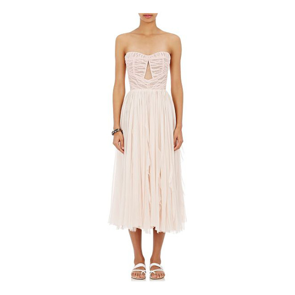 J. MENDEL Chiffon strapless dress-pink - Exclusively Ours! Crafted of light pink gently pleated...