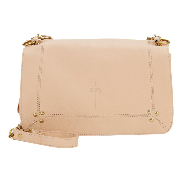 JEROME DREYFUSS Bobi shoulder bag - Jérôme Dreyfuss nude grained-leather Bobi shoulder bag. Zip...