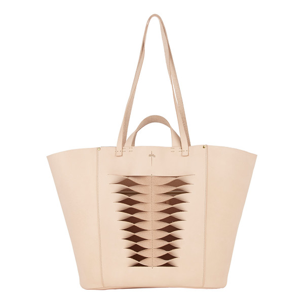 JEROME DREYFUSS Large norbert tote-nude - Jerome Dreyfuss light pink smooth calfskin large Norbert...